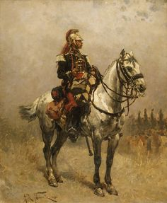 A French Trumpeter of the Dragoons, Franco-Prussian War