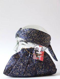 Vintage 20's blauw met goud handtasje en flapper haarband - Tassen & portemonnees - Vintage