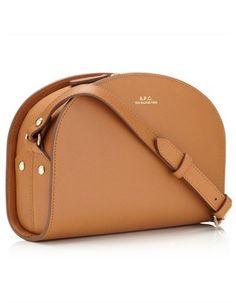 Tan Leather Demi Lune Bag   A.P.C.   Avenue32