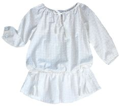 Lindsey Berns #kids daisy embroidered tunic