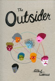 Albert Camus - The Outsider - cover by Paul Bower Albert Camus, Best Book Covers, Book Cover Design, Scribble, Illustrators, Good Books, The Outsiders, Drawings, Batch Number