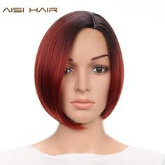 "10"" Short Synthetic Ombre Wigs for Black Women, Straight Bob Hairstyle. Items per Package: 1 Piece Only Short Wig With Heat ResistantCan Be Permed: YesLace Wig Type: Non Lace WigsBrand Name: AISI HAIRWigs Length: ShortTexture: StraightCap Size: Average Size AdjustableModel Number: WS694Material Grade: High Temperature Fiber Shipping and Delivery Varies Between 12 to 20 Days"