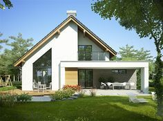 Have you ever discovered this in the past? Remodeling an Old House Modern Bungalow Exterior, Modern Bungalow House, Courtyard House, Facade House, House Extension Plans, Architectural House Plans, Simple House Design, A Frame House, Minimal Home
