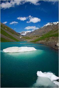 "Jashyl Kol - ""The green lake"" in Chong Kemin gorge, Chuy region #Kyrgyzstan #nature"