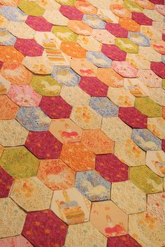 heather ross hexagon quilt | Flickr - Photo Sharing!