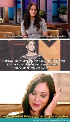 Love Jennifer Lawrence!