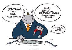 Pour manger sainement du poisson... / By Geluck.
