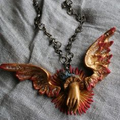 Take Flight Necklace Relics and Artifacts by Sandra Evertson | Free Project from The Studio