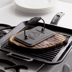 Lodge® Cast Iron Grill Pan in Griddles & Grill Pans | Crate and Barrel