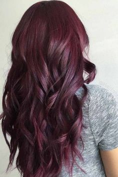 HAIR Hair red ombre burgundy ideas Is Your Child Ready For Kindergarten? Pelo Color Vino, Pelo Color Borgoña, Pelo Color Violin, Deep Red Hair Color, Plum Red Hair, Color Red, Black Hair, Good Hair Colors, Red Hair Shades