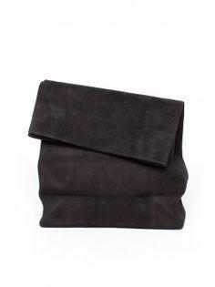 Adaism Saco de Papel Bag - Black Suede