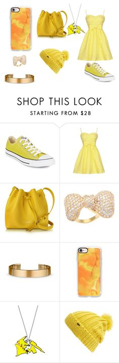 """""""Yellow"""" by ihasgummyworms on Polyvore featuring Converse, Lancaster, Kate Bissett, Le Gramme, Casetify and Maison Scotch"""