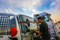 #Windowrepair after #fia #etrc #czechgrandprix 2015 #autodrom Most - #truckracinge #mercedes #actros