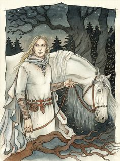"""""""Glorfindel was tall and straight; his hair was of shining gold, his face fair and young and fearless and full of joy; his eyes were bright and keen, and his voice like music; on his brow sat wisdom, and in his hand was strength."""" <-- One of my favorite quotes from the Fellowship of the Ring."""