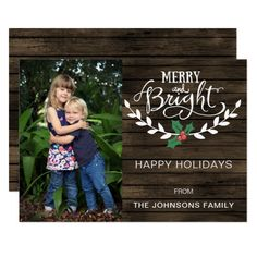Shop Barn wood Rustic Personalized Photo Holiday Invitation created by XmasMall. Personalize it with photos & text or purchase as is! Holiday Greeting Cards, Holiday Photo Cards, Christmas Cards, Christmas Eve, Holiday Invitations, Custom Invitations, Confetti Photos, Personalised Photo Cards, Magnetic Business Cards