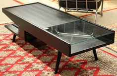 6281: John Keal for Brown Saltman ebonized coffee table : Lot 6281