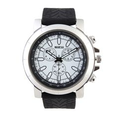 Watch - Case size: 42 mm - Silicon strap - alloy case - stainless steel case back - not waterproof - logo and hands in contrasting colour - Movement: chinese Pushers and counters are just for aesthetical purpose Prezzo, Watch Case, Stainless Steel Case, Watches For Men, Sneakers, Stuff To Buy, Fashion Design, Accessories, Black