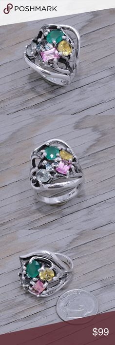 Spotted while shopping on Poshmark: Sterling Silver & Multistone Ring! #poshmark #fashion #shopping #style #Jewelry