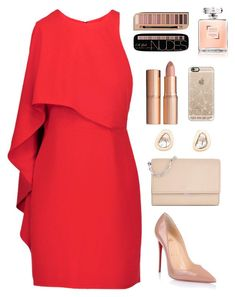 """""""A little lipstick never hurts"""" by chase-stars ❤ liked on Polyvore featuring beauty, Halston Heritage, Charlotte Tilbury, Christian Louboutin, Michael Kors, Dezso by Sara Beltrán and Casetify"""