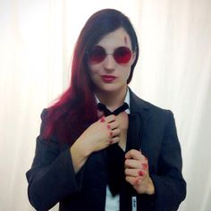 105e5e3064 Female Matt Murdock Cosplay idea - COSPLAY IS BAEEE! Tap the pin now to  grab yourself some BAE Cosplay leggings and shirts! From super hero fitness  leggings ...