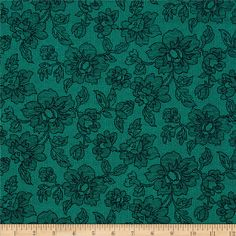 Michael Miller Sultana Zelda Teal from @fabricdotcom  From Michael Miller, this cotton print is perfect for quilting, apparel and home decor accents.  Colors include teal and navy.