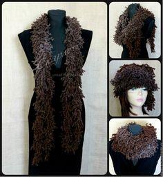 Купить Шарф-боа из фантазийной полушерстяной пряжи - шарф женский, шарф-боа, боа, шарф