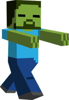 Minecraft Zombie by ToaJahli on DeviantArt Minecraft Crafts, Minecraft Png, Espada Minecraft, Minecraft Pictures, Cool Minecraft, Minecraft Cake, Minecraft Skins, Zombie Clipart, Minecraft Bedroom