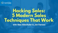 5 Modern Techniques to Smash Your Quarterly Sales with Max Altschuler Social Networks, Social Media, Sales Techniques, Business Sales, Growth Hacking, Marketing Automation, Cloud Based, Sales And Marketing, Science And Technology