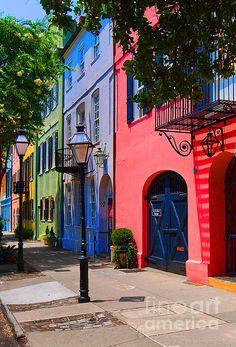 Rainbow Row, Charleston