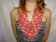 Shimmery Cotton Crochet Cowl by TheBrownTeapot on Etsy