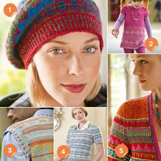 Summer fair isle knitting patterns.  Looks like Fair Isle knitting is making a come-back.