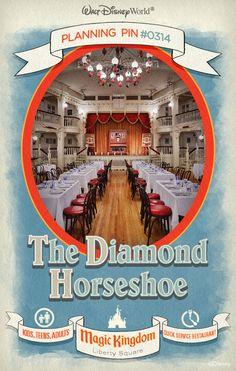 Walt Disney World Planning Pins: The Diamond Horseshoe