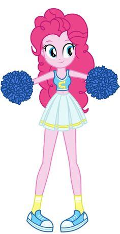 #1123574 - artist:mixiepie, belly button, canterlot high, canterlot wondercolts, cheerleader, cheerleader pinkie, clothes, equestria girls, midriff, pinkie pie, pom pom, safe, school spirit, shoes, socks, solo, vector, wondercolts - Derpibooru - My Little Pony: Friendship is Magic Imageboard