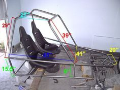 Learn how to build you own go-kart. Here, the whole process is broken down into … Learn how to build you own go-kart. Build A Go Kart, Diy Go Kart, Go Kart Buggy, Off Road Buggy, Mini Buggy, Carros Turbo, Kart Cross, Go Kart Plans, Offroader