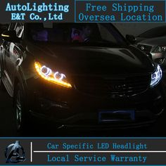 506.85$  Buy here - Car Styling For Kia Sportage R headlights 2011-2013 Sportage Headlight 2011-2013 Angel eye led drl H7 hid Bi-Xenon Lens low beam  #magazineonlinewebsite