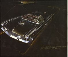 FORD THUNDERBIRD CONCEPT DRAWING (1955)