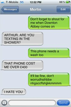 Merlin may have said something or other about not mixingelectricitywith water, but Arthur can't for the life of him remember.    I love that Arthurs a fan of Downton Abbey yet Bradley and the rest of the cast were obviously not at the NTA's!!