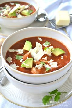 Nothing comforts like a bowl of soup...Chicken Tortilla Soup...my fav.