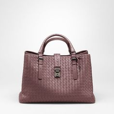 MAROON INTRECCIATO LIGHT CALF ROMA BAG -- Bottega Veneta .. wantttt  plzzzzzz  D 6f7a160243
