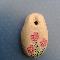Folk Art Flower Pendant