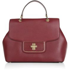 MICHAEL Michael Kors Emery LG Satchel Cherry  Bag ($465) ❤ liked on Polyvore featuring bags, handbags, red, satchel bag, red handbags, red satchel purse, red satchel handbags and cherry purse