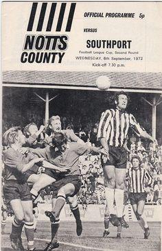Vintage Football (soccer) Programme - Notts County v Southport, League Cup, 1972/73 season #football #soccer