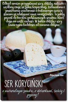 ser koryciński Fruit Recipes, Cheese Recipes, Sweet Recipes, Recipies, Polish Recipes, Polish Food, How To Make Cheese, Food Crafts, Dairy