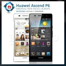"Original HuaWei Ascend P6 4.7 "" 1.5 Ghz Quad Core 2 G RAM 8 G ROM Android 4.2 Jelly Bean GPS 8MP 3 G 6.18 mm delgadez teléfono"