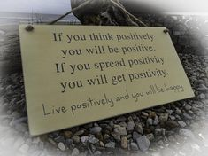 Hand painted wall art. Solid wood sign. Positivity quote