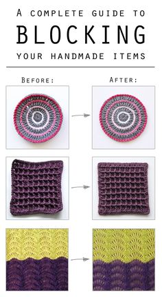 Blocking is the finishing touch for your handmade items. There are multiple ways of blocking your work. But which method is the right one for your yarn?