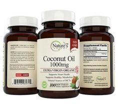 Coconut Oil Organic 1000 mg Supplement for Weight Loss and Beauty - Nature's Potent™