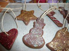 Homemade ornaments - Cinnamon applesauce