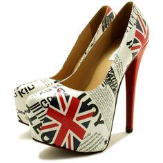 Platform Stilettos | Makenna Stiletto Heel Concealed Pointy Platform Court Shoes - Union ...