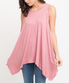 This Berry Handkerchief Swing Tunic is perfect! #zulilyfinds